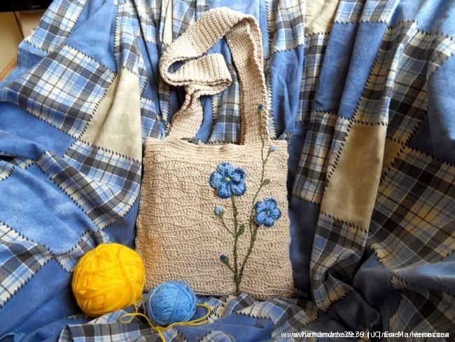 Вязанная крючком сумка Лён