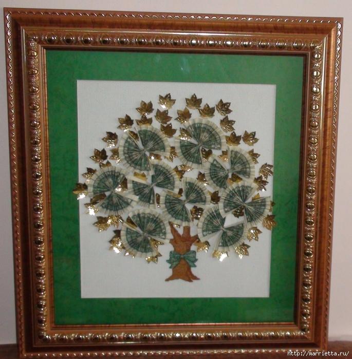Картина «Денежное дерево». Вышивка (3) (685x700, 377Kb)