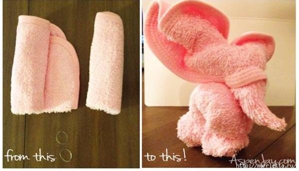 Слоник из полотенца - оригинальный подарок своими руками (2) (598x342, 133Kb)