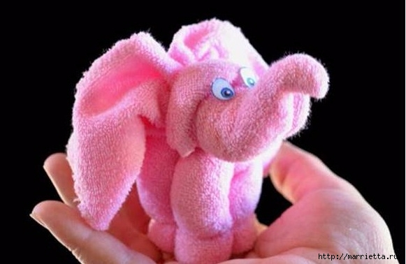 Слоник из полотенца - оригинальный подарок своими руками (4) (581x378, 100Kb)