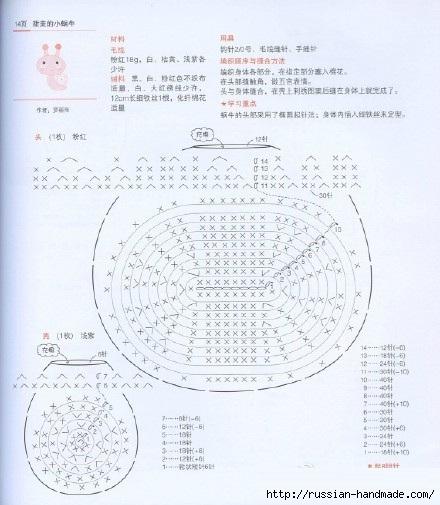 Вяжем амигуруми. УЛИТКА КРЮЧКОМ (1) (440x505, 138Kb)