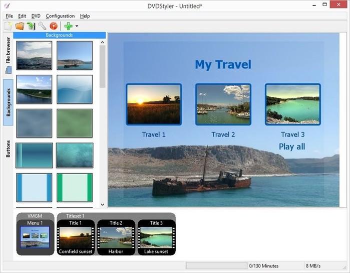 Бесплатная программа DVD Styler для создания образов и записи DVD видео