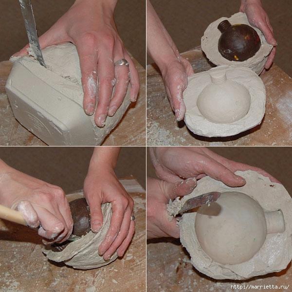 Елочный шар из гипса в старинном стиле (4) (600x600, 215Kb)