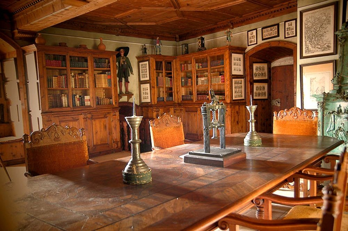 средневековый замок моосхам австрия 5 (700x465, 411Kb)
