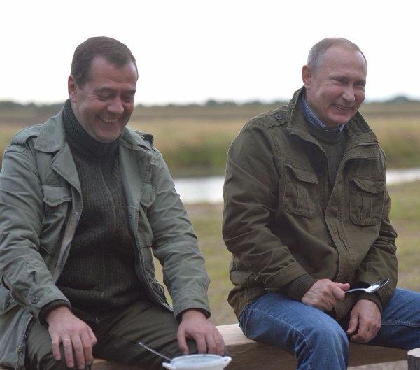 медведев и путин на рыбалке ильмень эхо москвы