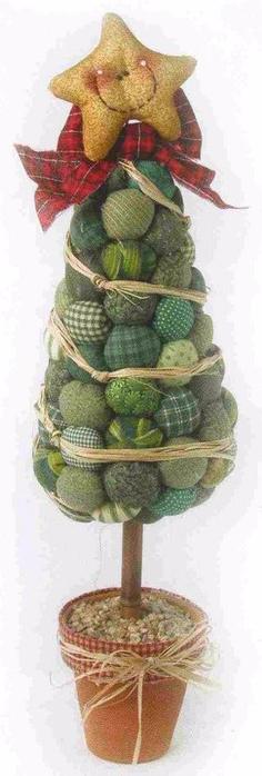 Новогодние елки из ткани. На одну елочку - мастер-класс (22) (236x700, 153Kb)