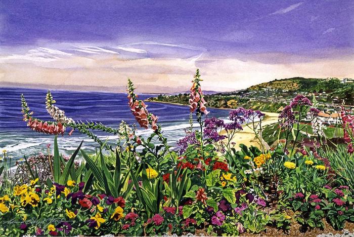 Акварельные пейзажи от David Lloyd Glover2 (700x468, 509Kb)