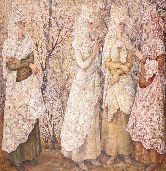 Весна. Белые испанки. 1922 (651x671, 697Kb)