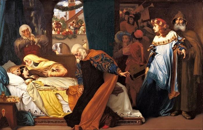 Frederick Leighton    притворная Смерть Джульетты   1856-1858 (700x448, 112Kb)