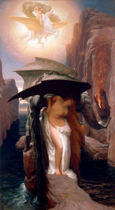 Frederick Leighton   Персей и Андромеда   1891 (384x700, 48Kb)