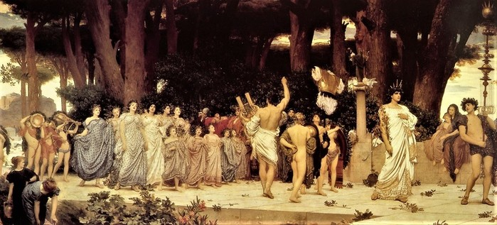 Frederick Leighton   The Daphnephoria    1874-1876  Дельфийские  игры (700x317, 91Kb)
