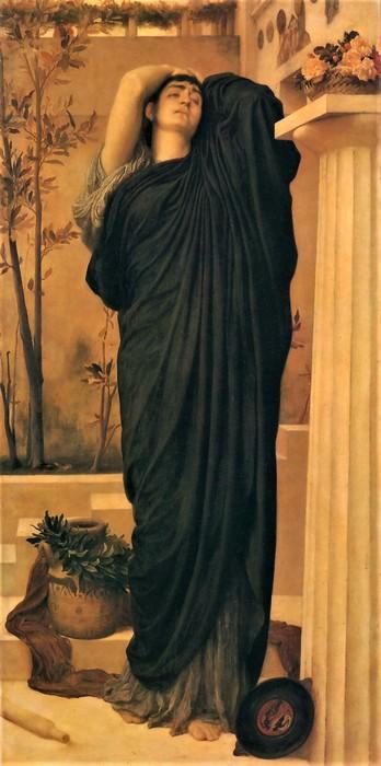 Frederick Leighton   Электра   у могилы Агамемнона   1868-1869 (348x700, 66Kb)