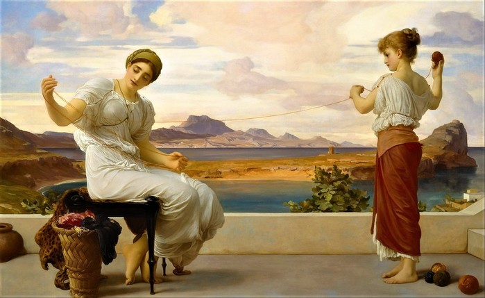 Frederick Leighton  Winding the Skein   c 1878 (700x429, 77Kb)