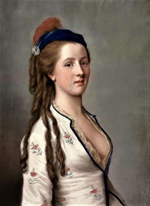 Портрет леди Энн Сомерсет, графини Нортгемптон (Portrait of Lady Ann Somerset, Countess of Northampton) 60.7 х 45.7 пергамент, пастель Частное собрание (510x700, 96Kb)