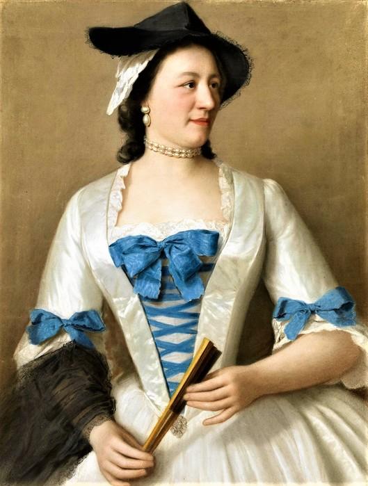 Жанна-Элизабет Селлон (1705-1749), Леди Тирелл     1746    63 х 48.5_пергамент, пастель   Амстердам, Рейксмузеум (529x700, 100Kb)