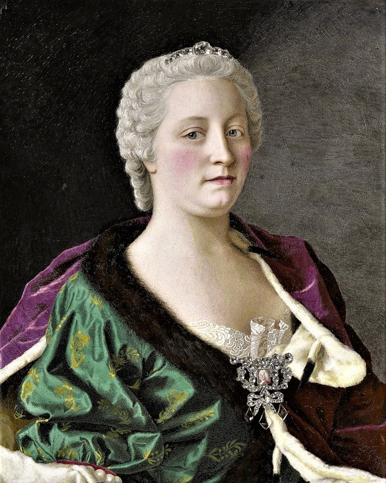 Мария Терезия Австрийская, эрцгерцогиня Австрии, королева Венгрии и Богемии     1747      62 х 51   медь, эмаль   Амстердам, Рейксмузеум (558x700, 160Kb)