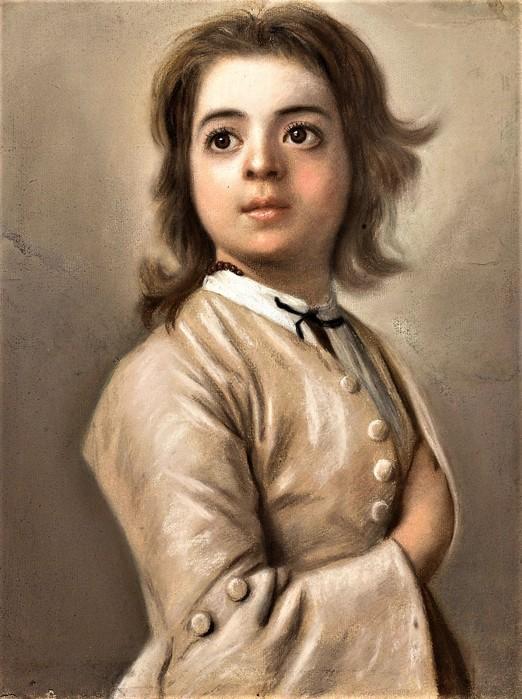 Этюд мальчика (Study of a boy at half the face)    1736-1738    46 х 35.5    бумага, пастель  Амстердам, Рейксмузеум (522x700, 112Kb)