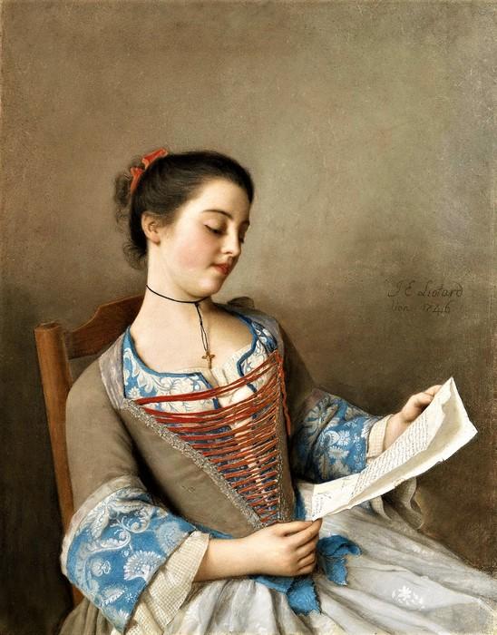 Читательница, Марианна Лавернь, кузина художника       1746        54.5 х 43    пергамент, пастель    Амстердам, Рейксмузеум (548x700, 121Kb)