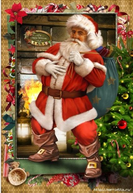 Картинки для декупажа. Новогодняя и рождественская тематика (7) (427x617, 250Kb)