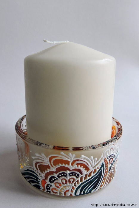 подсвечник со свечой от Shraddha (5) (466x700, 178Kb)