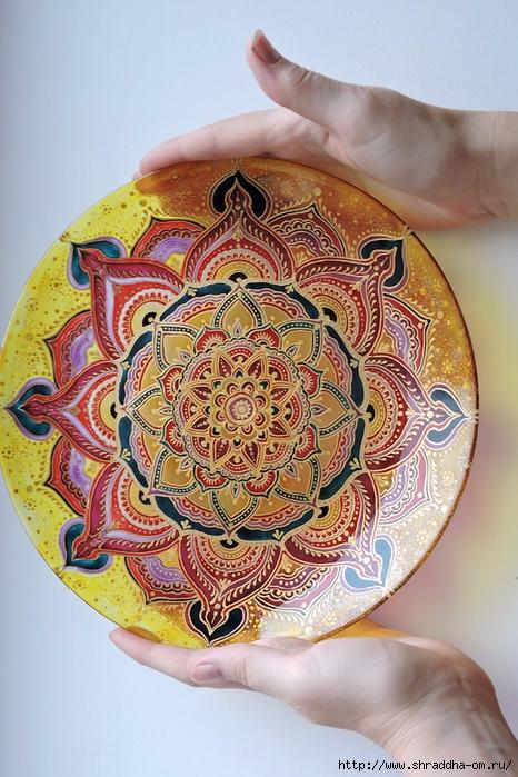 тарелка декоративная от Shraddha(1) (466x700, 309Kb)