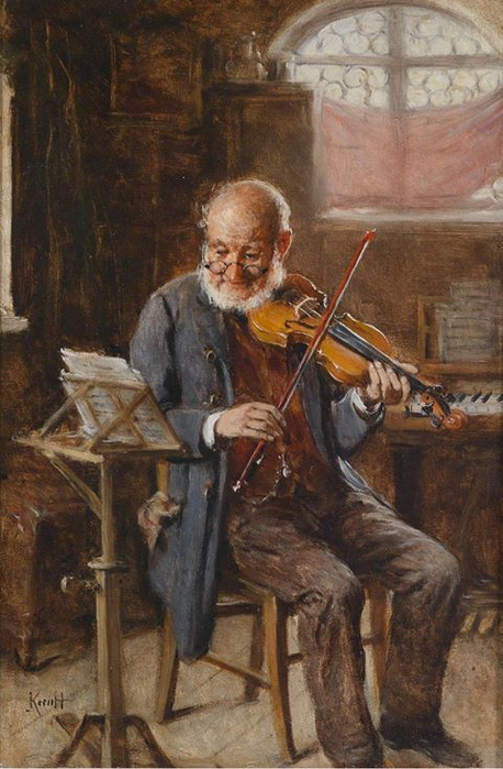 The Violinist Hermann Kern German, 1838-1912 (458x700, 348Kb)