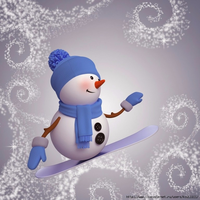 3d-snowman-image-on-snowboard-winter-outdoor-activity (700x700, 281Kb)