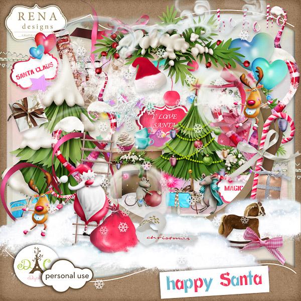 Happy Santa by Rena (600x600, 219Kb)
