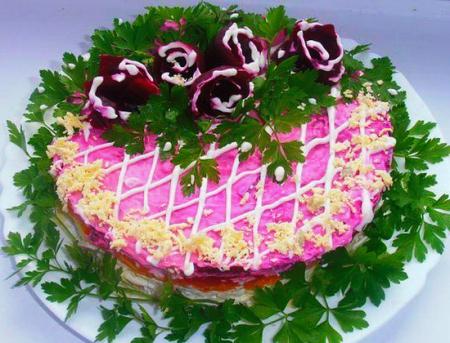 салат мясная шубка (450x343, 227Kb)