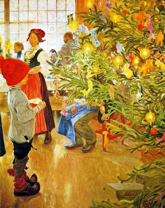 Карл Ларссон. «Сегодня Рождество». 1904-1905 гг. (555x700, 619Kb)