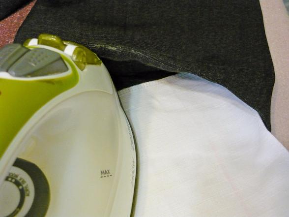 Подшивка брюк на машинке