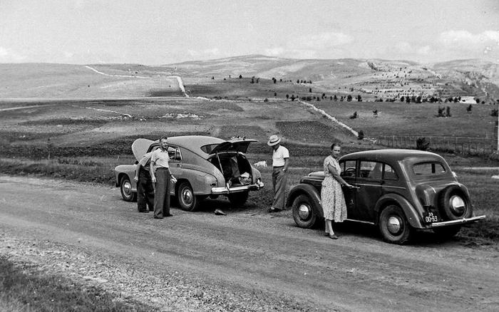 Дорога на Ай-Петри,50-е годы (700x438, 220Kb)