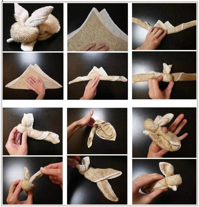 Как сделать собачку из полотенца своими руками 18