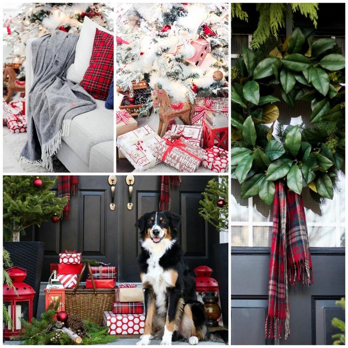Рождественский интерьер - идеи декора 1_Fotor_Collage (700x700, 593Kb)