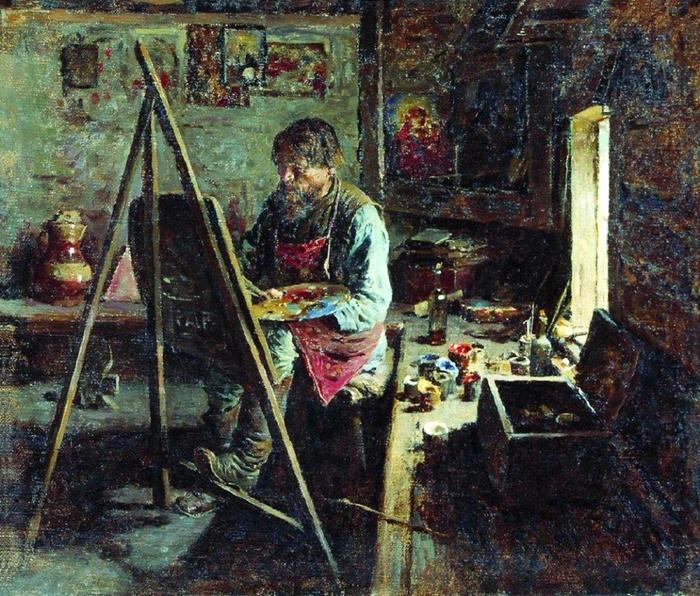 Архипов(Пыриков) Абрам Ефимович  (1862-1930) -Деревенский иконописец ,1889r (700x596, 559Kb)
