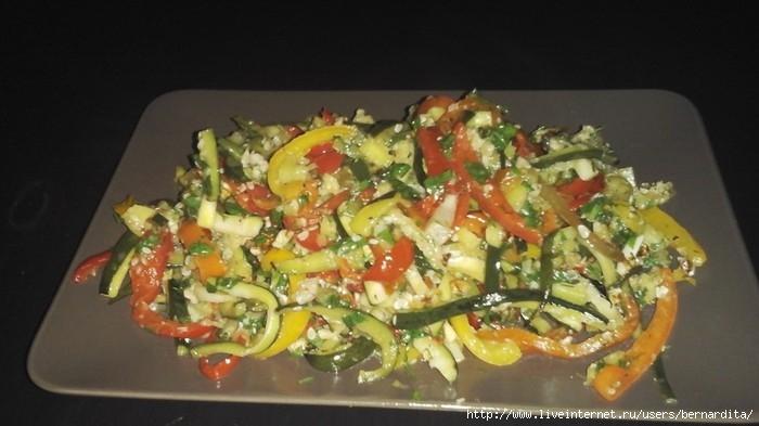 марокканский салат с кабачками и болгарским перцем