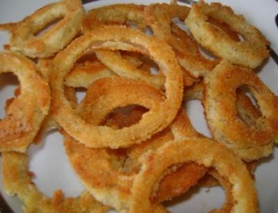 Закуска к пиву - луковые кольца
