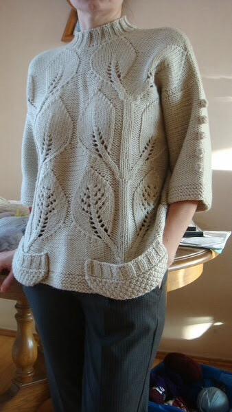 针织叶子上衣(八):一个模式的两个模型 - maomao - 我随心动