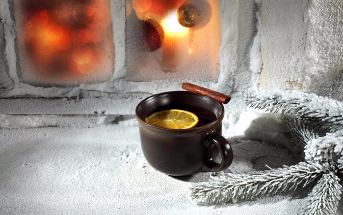 Зимой с чаем у окна