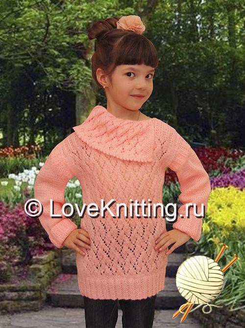 15 Автор Пуловер с ажуром МТ2 (500x667, 357Kb)