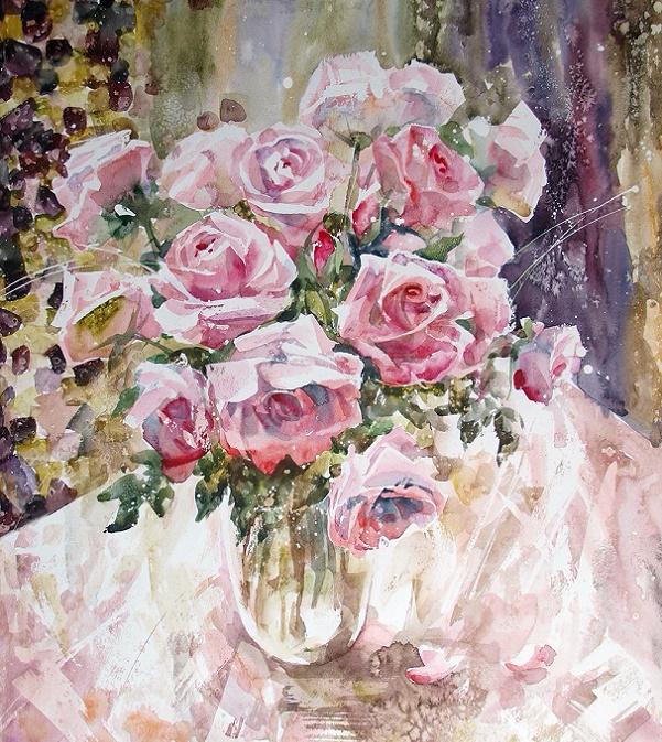+Благоуханье нежных роз. Из серии  Вдохновение (601x673, 610Kb)