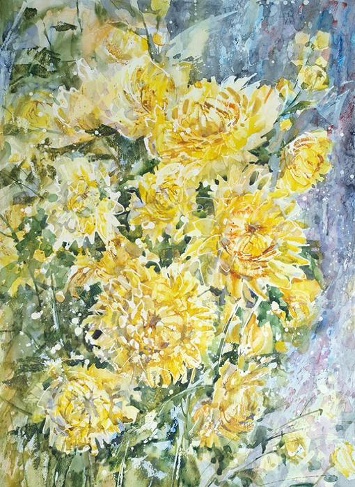 +Желтые хризантемы (510x700, 572Kb)