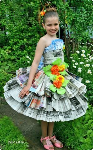 Платье из подручного материала: мастер класс своими руками 135