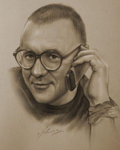 Сам художник Кристоф Лукашевич -1 (400x500, 25Kb)