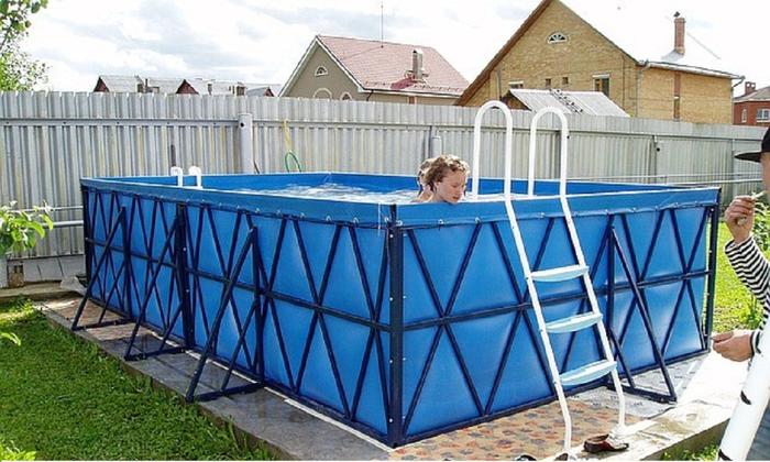 Как сделать каркасный бассейн
