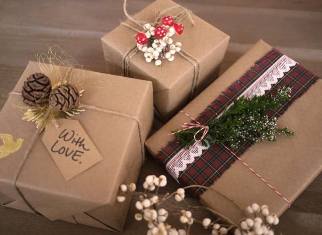 Как красиво оформлять подарки 436