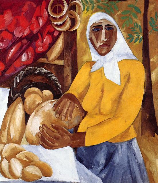 +Woman Selling Bread 1911 (551x640, 499Kb)