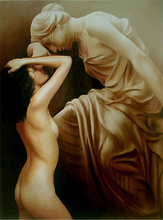 Red Dreams - Brita Seifert 1963 - Dutch Surrealist painter - Tutt'Art@ - (20) (519x700, 313Kb)