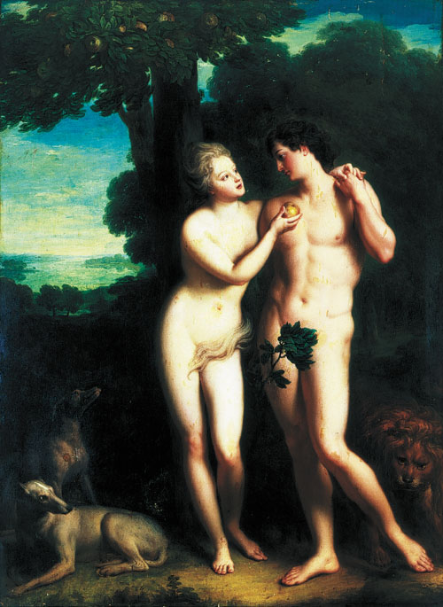 Adam and Eve.1716.by Jean-Baptiste Santerre (500x685, 82Kb)