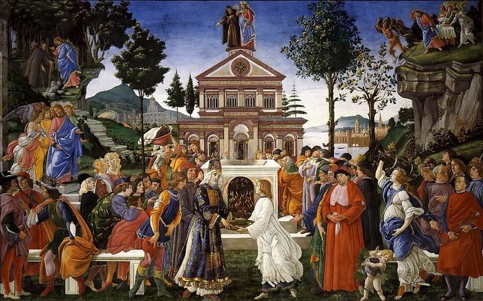 Сандро Боттичелли. Искушение Христа (700x435, 152Kb)